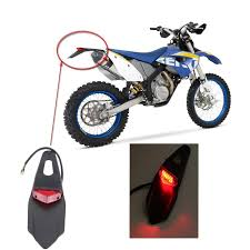 motocross bike brands amazon com rear fender led brake tail light lamp w bracket for