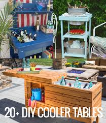 Patio Cooler Table Remodelaholic Brilliant Diy Cooler Tables For The Patio With