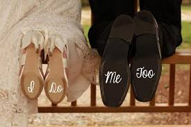 wedding shoes help me shoe i do and me wedding shoe decal set 2403665 weddbook