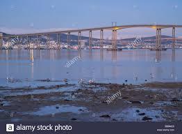 the strait of tromsoysundet tromso sound with tromso bridge stock