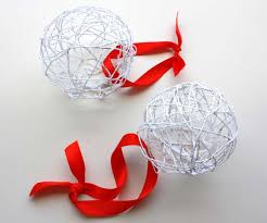 crafting on a budget diy balloon and string ornaments
