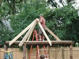 How To Build Tiki Hut Tiki Hut Roof In Progress Lovely How To Build A Tiki Hut Roof 3