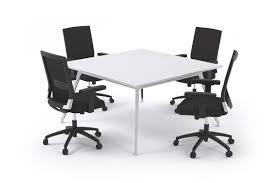 Square Boardroom Table Executive Boardroom Table Square White Legs San Fran
