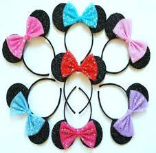 minnie mouse hair bow pretty hair bow minnie mouse ears lubyandlola