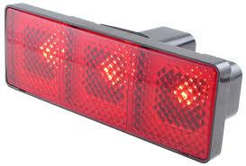 bully light up rectangular trailer hitch receiver cover brake
