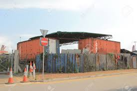 cargo container house at hong kong stock photo picture and