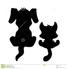 cat dog silloutee clipart collection
