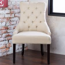 ivory chair furniture of america bielson tufted ivory accent dining chair set