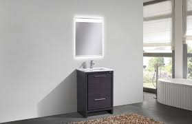 Inch Gray Oak Modern Bathroom Vanity With White Quartz Countertop - Bathroom vanities with quartz countertops