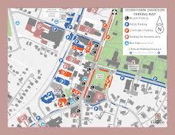 Map Nc Downtown Parking Map Davidson Nc Official Website