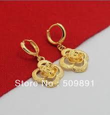 trendy gold earrings aliexpress buy e510 new trendy 24 carat gold colou women