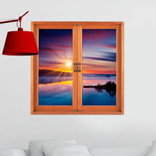 sunset pag 3d artificial window cloud iridescence wall decals room