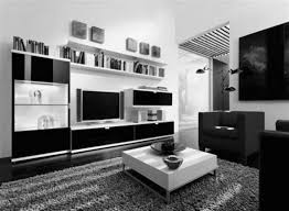 cool black and white modern living room home decor color trends