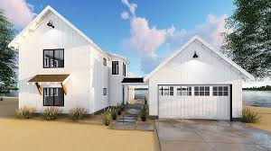 House Plans With Detached Garage And Breezeway Modern Farmhouse Plan With 2 Beds And Semi Detached Garage