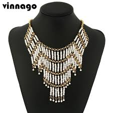 collar bib necklace images Vintage maxi statement choker bib necklace women chokers chain jpg