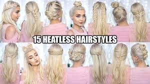 pic of 15 hair 15 braided heatless back to school hairstyles youtube