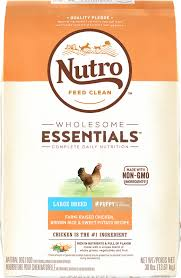 nutro wholesome essentials large breed puppy farm raised chicken