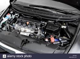 2008 honda civic ex l in black engine stock photo royalty free