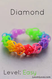 bracelet made from rubber bands images How to make a diamond loom bracelet jpg