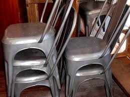 Vintage Bistro Chairs Vintage Industrial Metal Bistro Chairs Hudson Goods