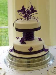 butterfly wedding cake purple butterfly wedding cake