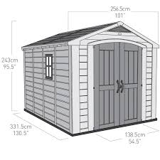keter factor 8ft x 11ft 2 6 x 3 3m shed costco uk