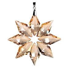 3 5inch diy chagne snowflake hanging glass pendants