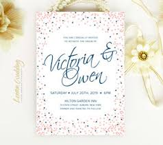 navy and blush wedding invitations invitations for wedding lemonwedding
