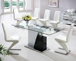 Beautiful Large Glass Dining Room Table Images Room Design Ideas - Glass dining room furniture