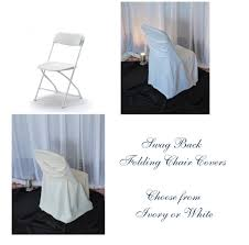 White Folding Chair Covers Njs Design Event Party Rentals Chair Covers Chair Covers Chair