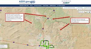 Phoenix Traffic Map by Arizona Dot On Twitter