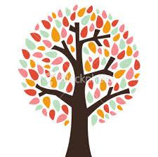 retro tree royalty free stock vector illustration family