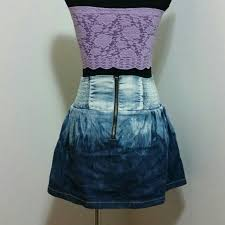 74 off bebe dresses u0026 skirts bebe denim ombre mini skirt