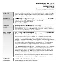 Objectives Examples For Resumes by 6 Best Images Of Graphic Design Resume Objective Graphic Design