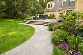 Designs For Homes by Outdoor And Patio Curved Stone Walkways Designs For Homes Mixed