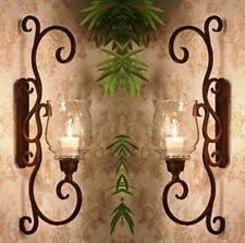 Tuscan Candle Wall Sconces Wrought Iron Pillar Tuscan Candle Holders U0026 Accessories Ebay