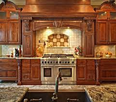 kitchen spectacular luxury custom backsplash chimney hood copper
