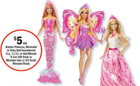 meijer 3 50 barbie princess mermaid fairy dolls bargains