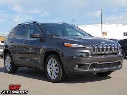 jeep suv 2016 black used 2016 jeep cherokee limited fwd suv for sale in ada ok jt531