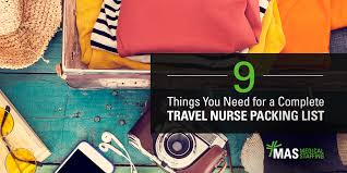 9 things you need for a complete travel nurse packing list