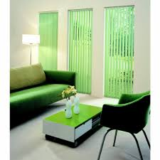 elegant white window vertical blinds designs for a living room