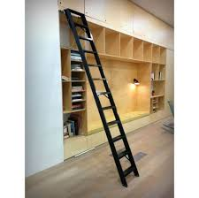 furniture best black metal rolling library ladder with black