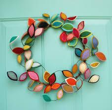 two felt wreaths by curiousbloom on etsy crafty