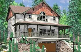 basement wrap daylight basement craftsman featuring wrap around porch vs walkout