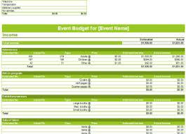Event Budget Template Excel Event Budget Templates