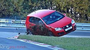 vw golf 5 gti almost crash in slowmotion nurburgring nordschleife