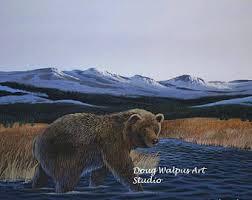 bear art print etsy