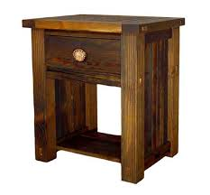 Rustic Pine Nightstand Rustic Lodge Log And Timber Furniture Handcrafted From Green