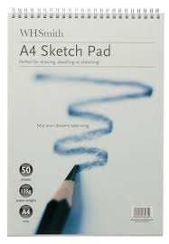 whsmith a4 sketch pad 50 sheets whsmith
