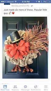 turkey door hanger turkey burlap wreath happy thanksgiving and fall